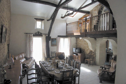 The Lounge and dining area @ Le Cedre, Vendee. France